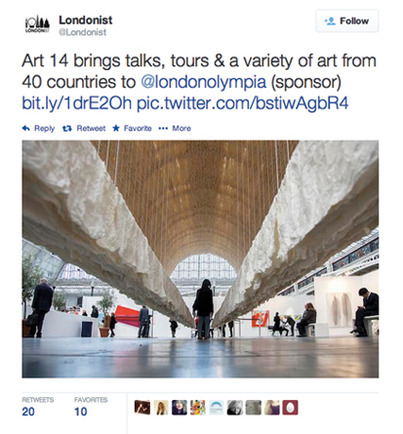 Londonist Tweet using a beautiful image