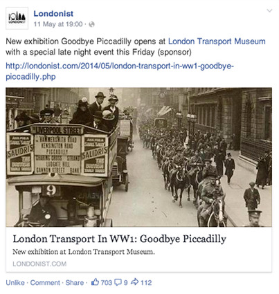 Londonist Facebook post