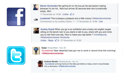 Sample social media responses